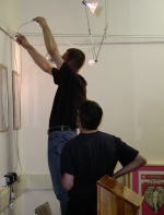 Setting Up the Becoming Visible Exhibition 3